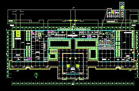 呼和浩特某混凝土结构火车站图(张拉弦)结构图纸