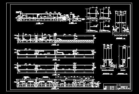 某公司设计汽车公司cass工艺流程图纸 2000m3/d的cass工艺平面及剖面