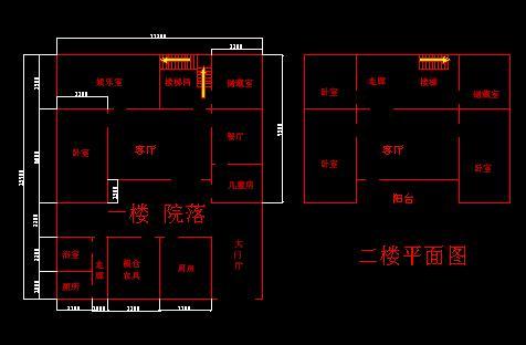 两层房屋设计平面图 农村两层半楼房平面图