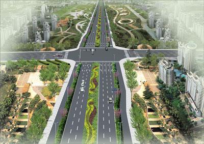道路路口景观设计