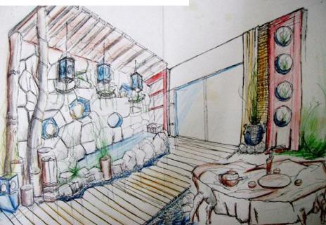 手绘图室内设计