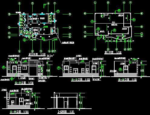 四川省某单层公厕建筑结构水电全套施工图 某地区单层公厕及垃圾站