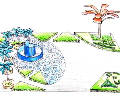 广场设计平面效果图(快题)