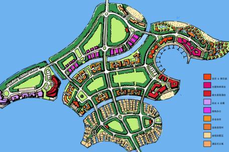 手绘景观规划平面图 手绘别墅规划总平面图  所属分类:建筑图纸  手绘