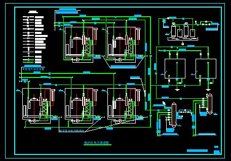暖通设计图 立式燃气蒸汽锅炉房施工图(5台2吨)