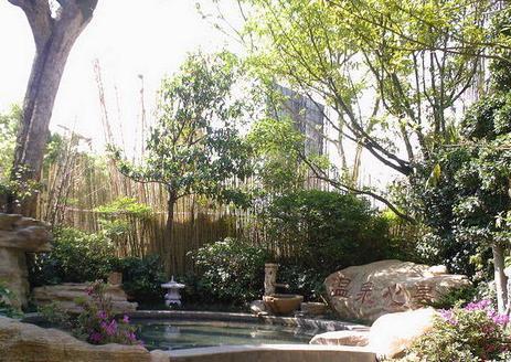 园林叠石水景 某景观小区规划设计含植物配置图及效果图和小品 建筑