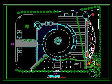 园林绿化及施工(绿化cad图纸)  广场游园绿化设计图(广场绿化设计)