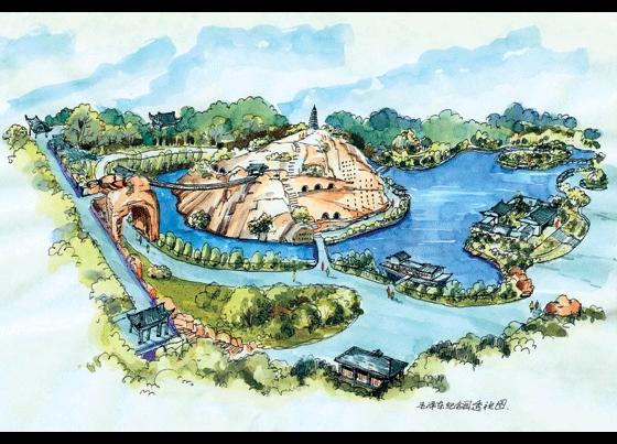 亭子景观手绘效果图 手绘景观快题设计