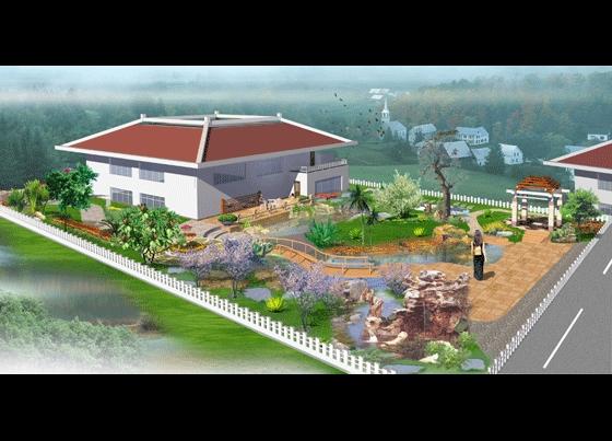 园林别墅设计图园林景观效果图园林景观立面效果图牧场园林别墅图纸关山庭院图片