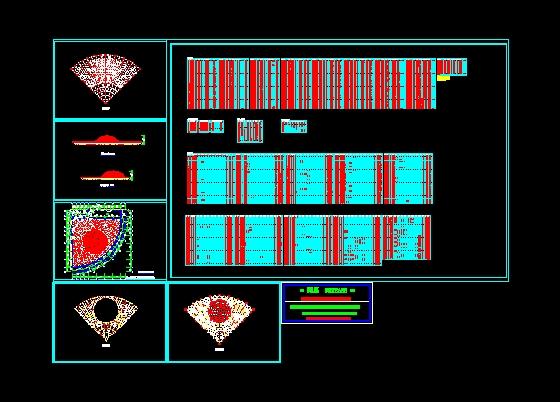 图纸 建筑结构图 网架结构图纸 网架穹顶 报告厅网架屋顶设计图; 报告