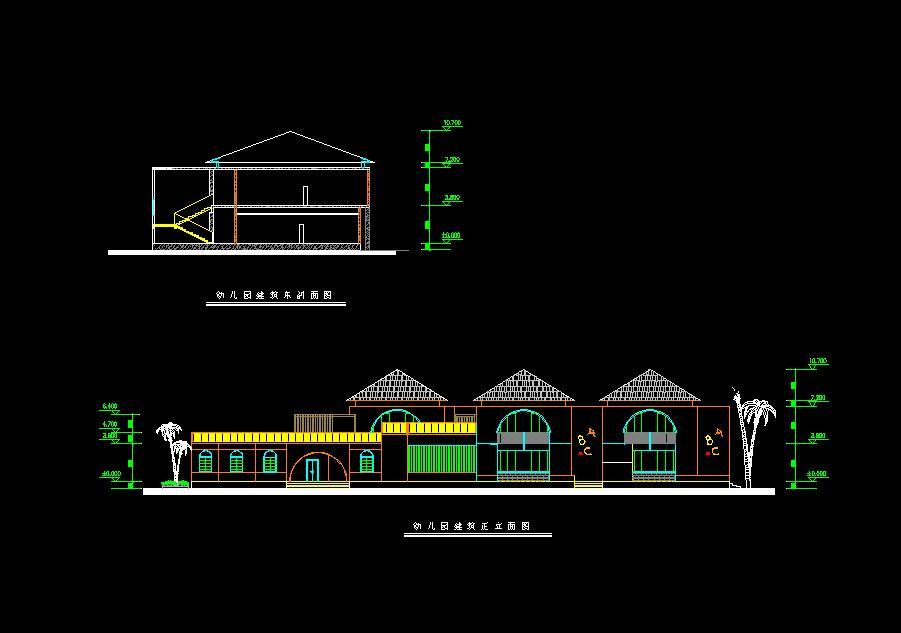 幼儿园设计立面图方案