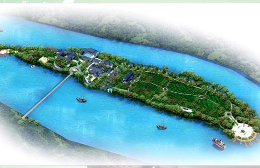 中洲岛生态茶苑规划图