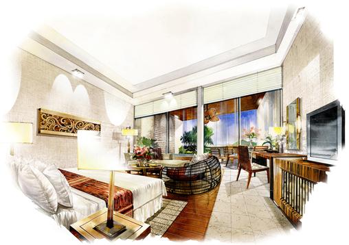 室内手绘效果图 手绘效果图 室内设计手绘效果图 小区入口景观手绘