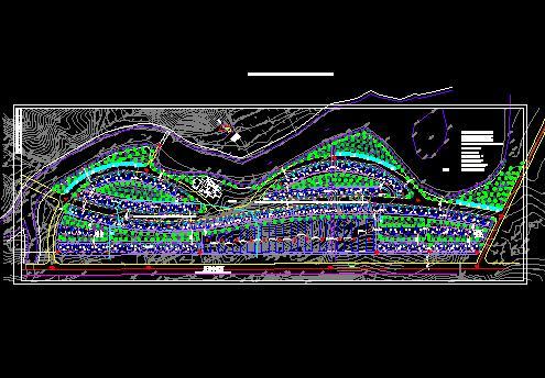某小区多层住宅楼规划设计总图 某小区景观规划设计总图(含植物配置)