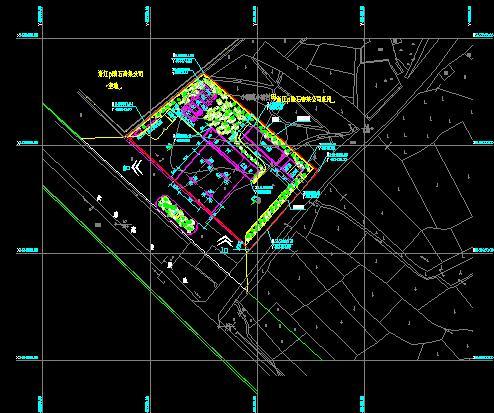 加油站cad平面图+加油站平面图线路电子cad大纲课程图片