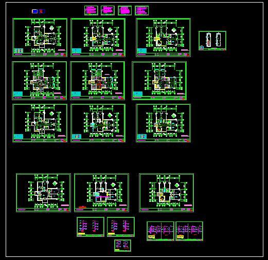 温泉别墅水电图