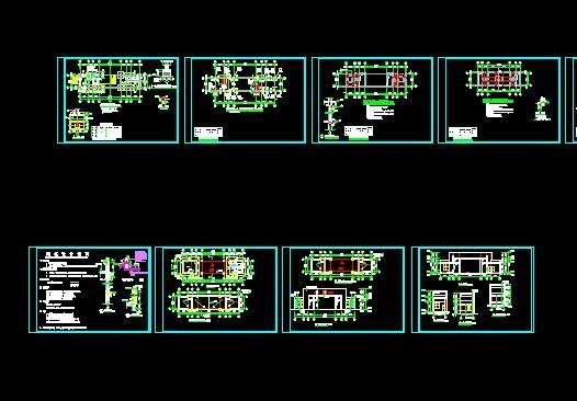 公安局大门建筑结构施工图