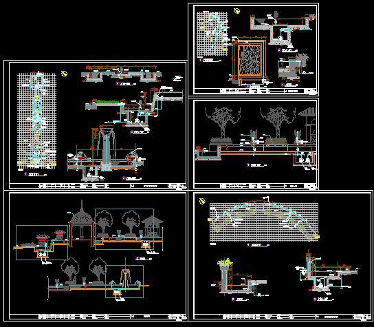 某喷泉设计施工详图_cad图纸下载-土木在线