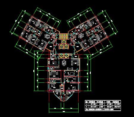 高层住宅平面图cad_【住宅平面图】高层住宅平面图_cad图纸下载_土木在线