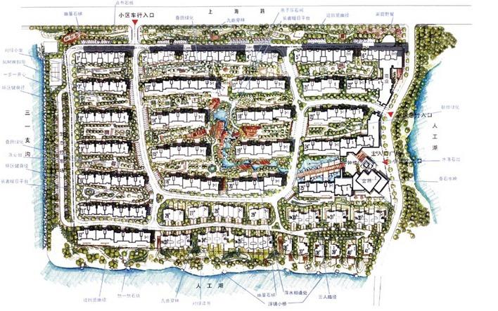优秀规划方案,手绘总图,高清晰建筑平面,附效果图 申明:内容来自用户