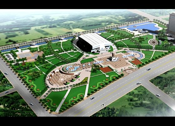 广场景观施工图 广场景观图 广场景观施工 校园广场景观平面图 广场