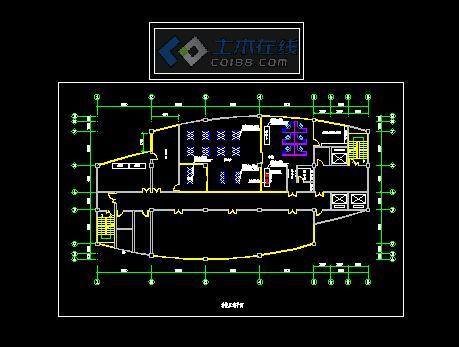 电力大楼信息机房平面图