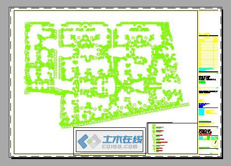 水电配置图 小区植物配置平面图 变压器保护配置图 植物配置立面图