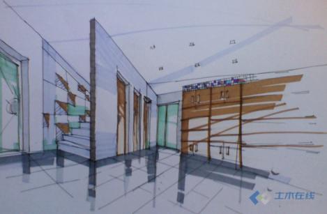 景观小品手绘效果图 校园景观小品手绘效果图 咖啡馆设计手绘效果图