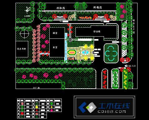 工厂绿化设计图纸