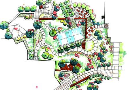 平面图校园景观平面图ps景观平面图景观平面图素材