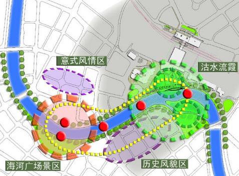 公园景观分析 景观分析图 景观节点分析图 建筑景观分析图 景观照明