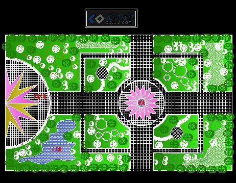 广州市中山大道天河公园改造设计图 某地区塘塔公园环镜改造园林绿化