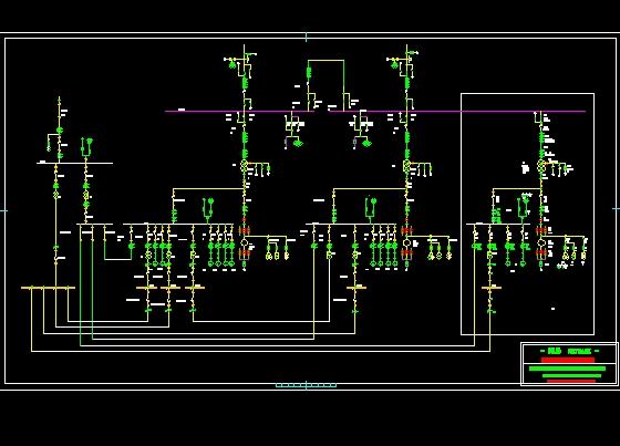 110kv升压站电气主接线图