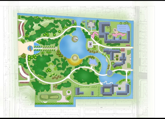 某公园环境规划彩平图
