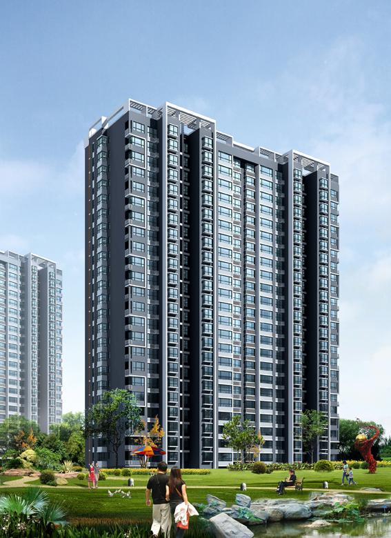 高层住宅效果图 co土木在线 高清图片