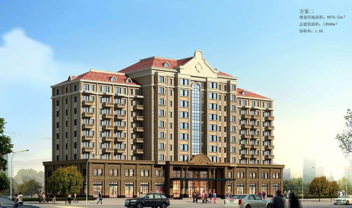 欧式高层公寓式酒店