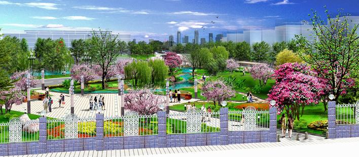 小游园鸟瞰图 小游园设计平面图 小游园景观设计图 小游园平面设计图