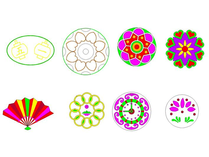 图纸 园林设计图 节日摆花图案  上传时间:2010-01-12 所属分类:园林