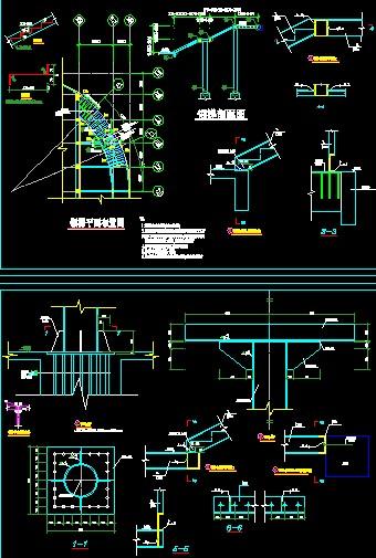 2j401钢梯爬梯图集-体外弧形钢梯