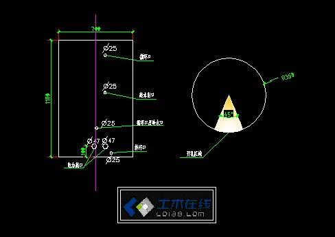 太阳能水箱设计图