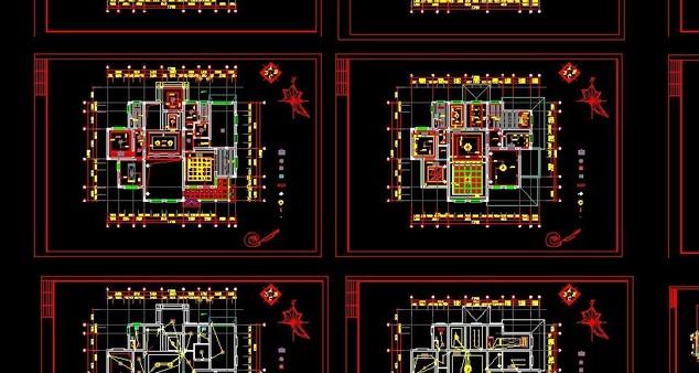 【别墅设计】整套欧式别墅设计装修图_cad图纸下载