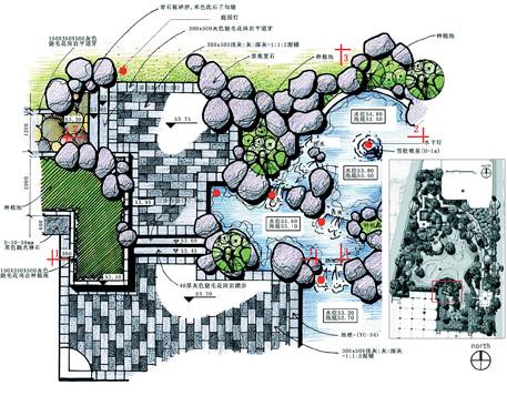 展厅手绘平面图 公园手绘平面图 公园平面图手绘  所属分类:建筑图纸