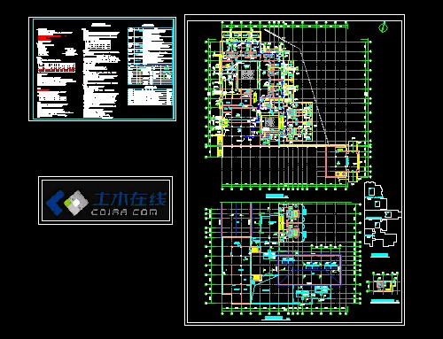 某温泉平面度假村给排水v温泉施工图酒店室内设计网图片