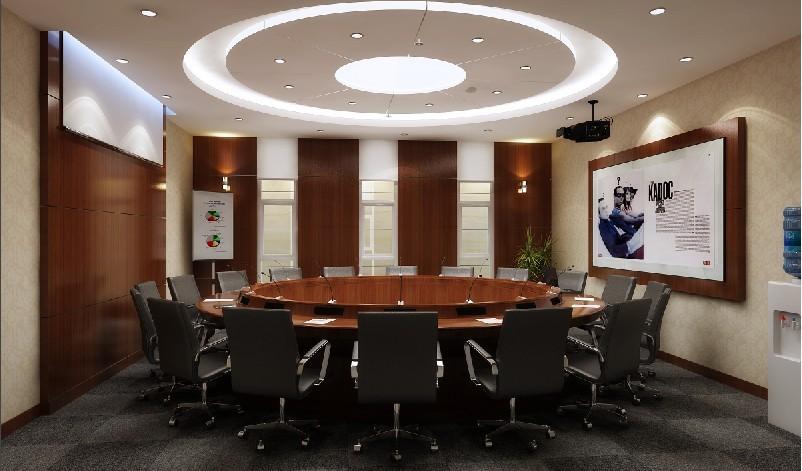 圆桌会议室ps效果图