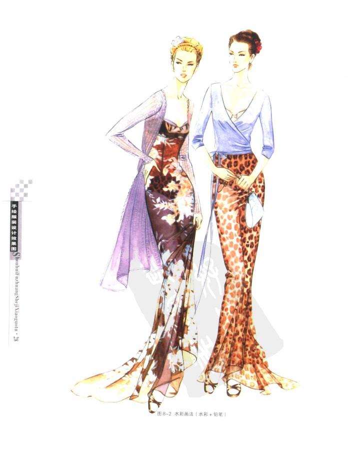 手绘服装设计效果图