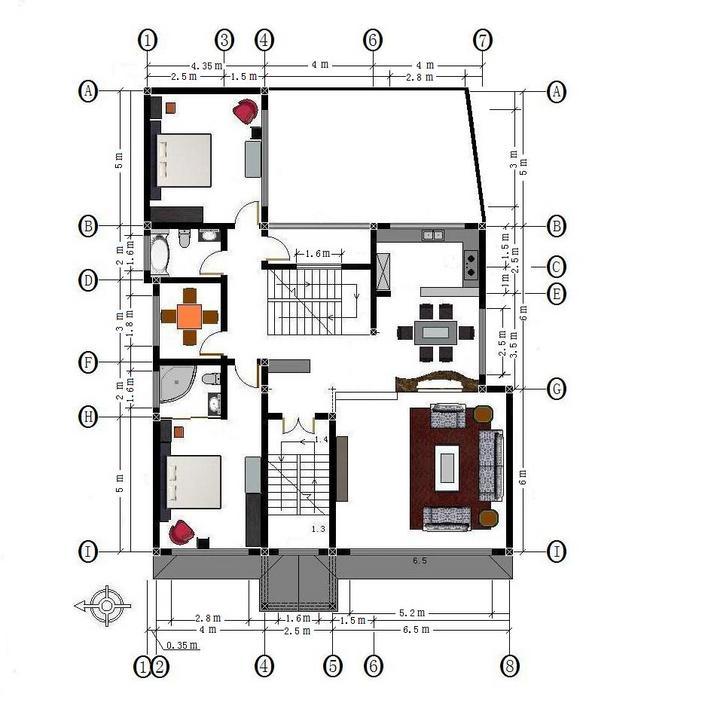 相关专题:别墅二楼平面图