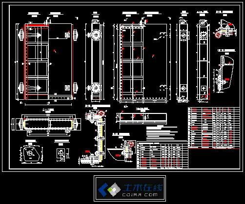 5×2.0钢闸门结构设计图