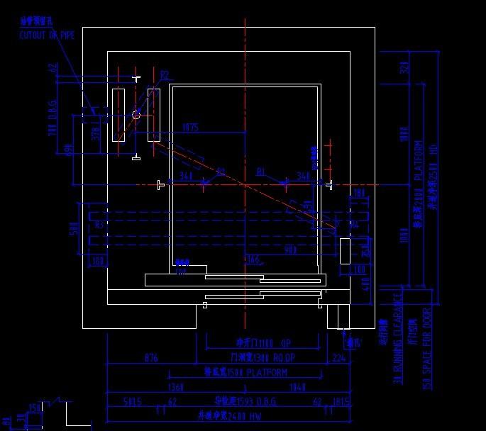 中国建筑,建 (685x608); 标准扶梯土建资料; 西子奥的斯液压电梯土建图片