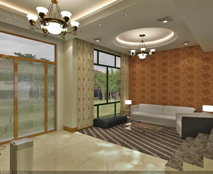 一套别墅楼室内设计图带效果图高清图片