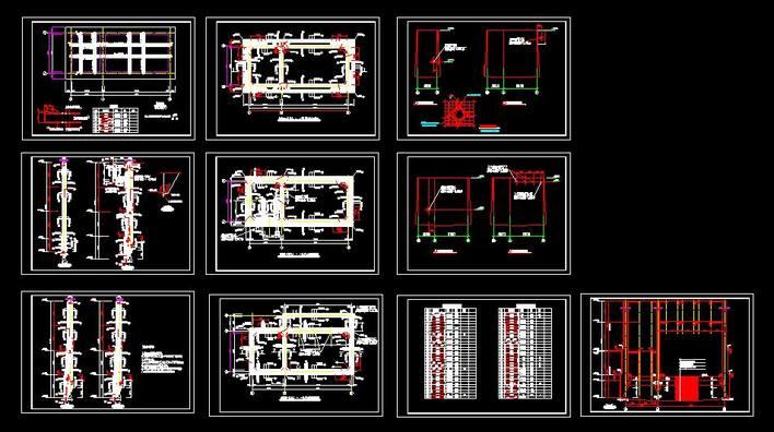 泵站沉井配筋_cad图纸下载-土木在线